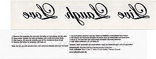 1 x Live Laugh Love - zwarte tekst - tijdelijke huid tattoo spreuk (1)