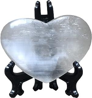 Crystal Natural Selenite Quartz Crystals Point Home Decoration Handiwork White Stone Gift Reiki Healing Heart