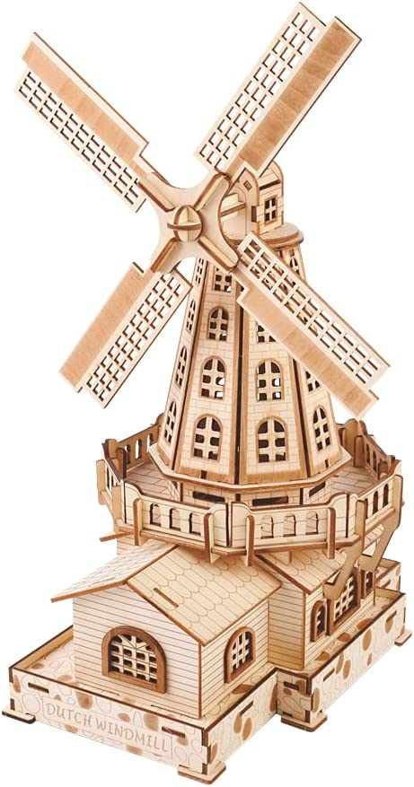 The Dutch Windmill Architecture Model Famou World Craft DIY Wood National products Alternative dealer