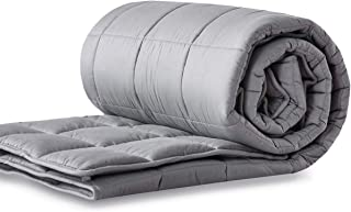 """LIANLAM Heavy Weighted Blanket (25 lbs, 60""""x80"""", Queen Size, Grey), Organic Weighted Blanket for Adults, 100% Natural Cott..."""