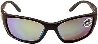 Costa Del Mar Sunglasses - Fisch- Glass / Frame: Black Lens: Polarized Green Mirror Wave 580 Glass