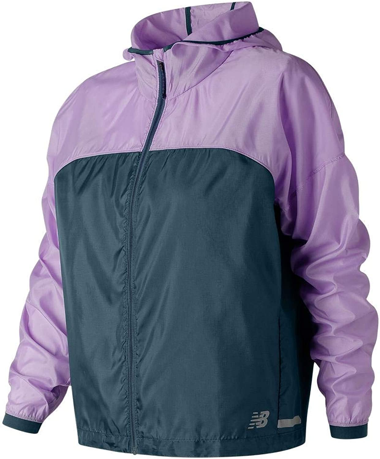 New Balance Womens Full Zip Hooded Lightweight Running PackJacket