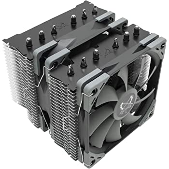 Scythe Fuma 2 CPU Air Cooler, Intel LGA1151, AMD AM4/Ryzen, 120mm Dual Towers, Black Top Cover