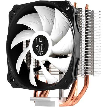 Nox Hummer H-212 - NXHUMMERH212 - Ventilador CPU 120 mm PMW, compatible Intel&AMD, 3 heatpipes, base de aluminio y cobre, color negro