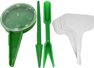Garden Hand Tool Kit Mini Flower Seed Dispenser Adjustable Size Disseminator Seeding Sower Starting Digging Plastic Hole P...