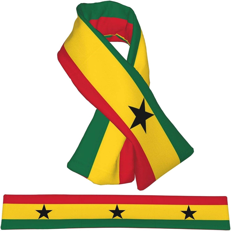 Winter Scarfs Ghana Flag Scarves Wraps Neck Warmer Flannel Winter Cross Tie Scarves