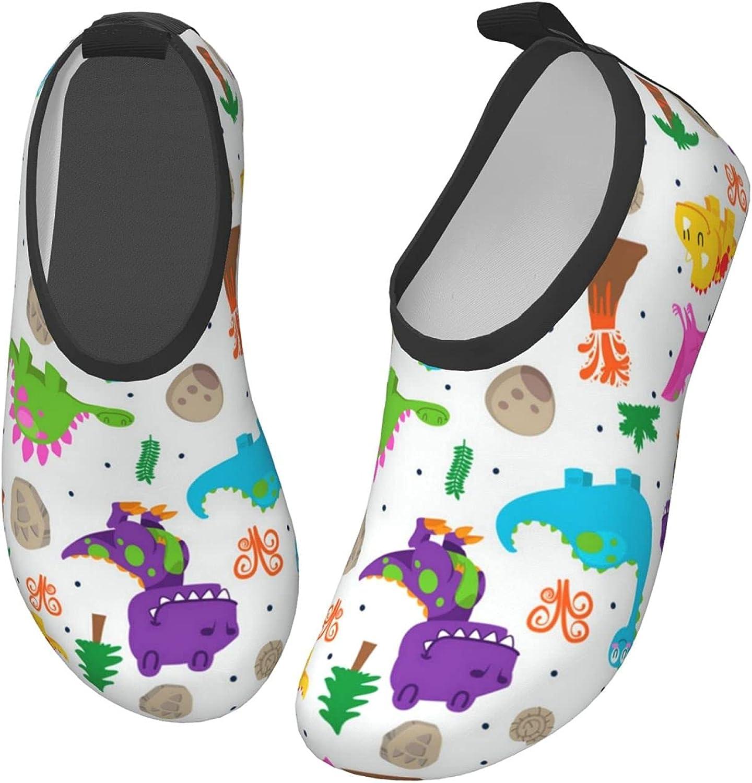 VVEGACE Children Dinosaur Variety Kids Water Shoes Girls Boys, Toddler Non-Slip Quick Dry Barefoot Aqua Socks for Sport Beach Swim Walking Surf Yoga