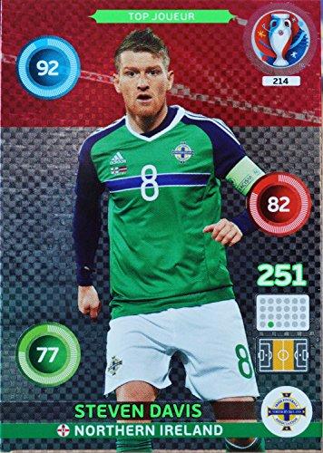 carte PANINI EURO 2016 #214 Steven Davis