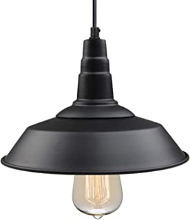LNC Pendant Lighting for Kitchen Island Barn Hanging Lamp with Paint Baking Finish for Dining Room, Bar Counter, A0190701, Black