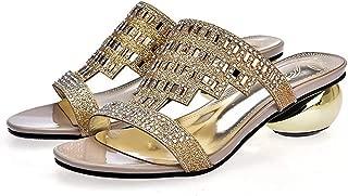 jingxlkd - Zapatillas de tacón Redondo para Mujer, Talla 33-43