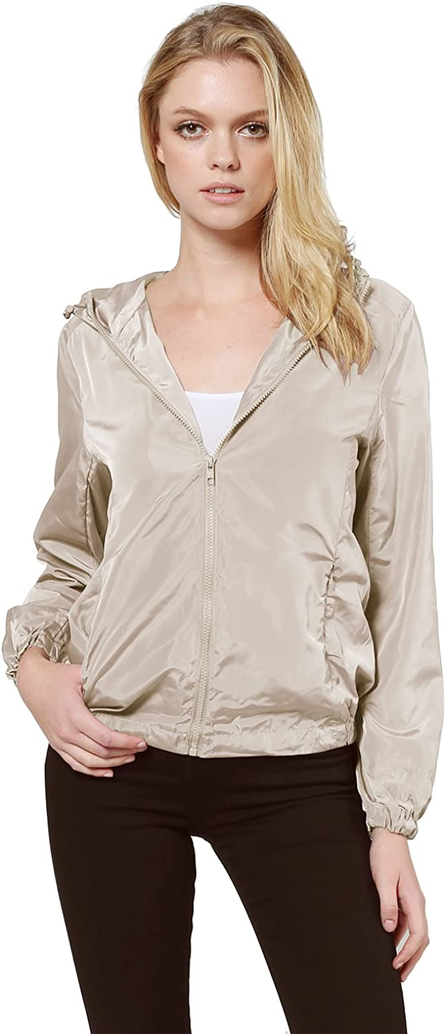 Awesome21 Women's Lightweight Solid Wind Proof Outdoor Sports Jacket