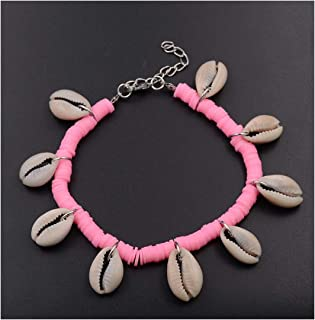 Women Anklet Bohemia Shell Anklets Women Beach 6Mm Polymer Clay Shell Anklets Summer Foot Jewelry Gift
