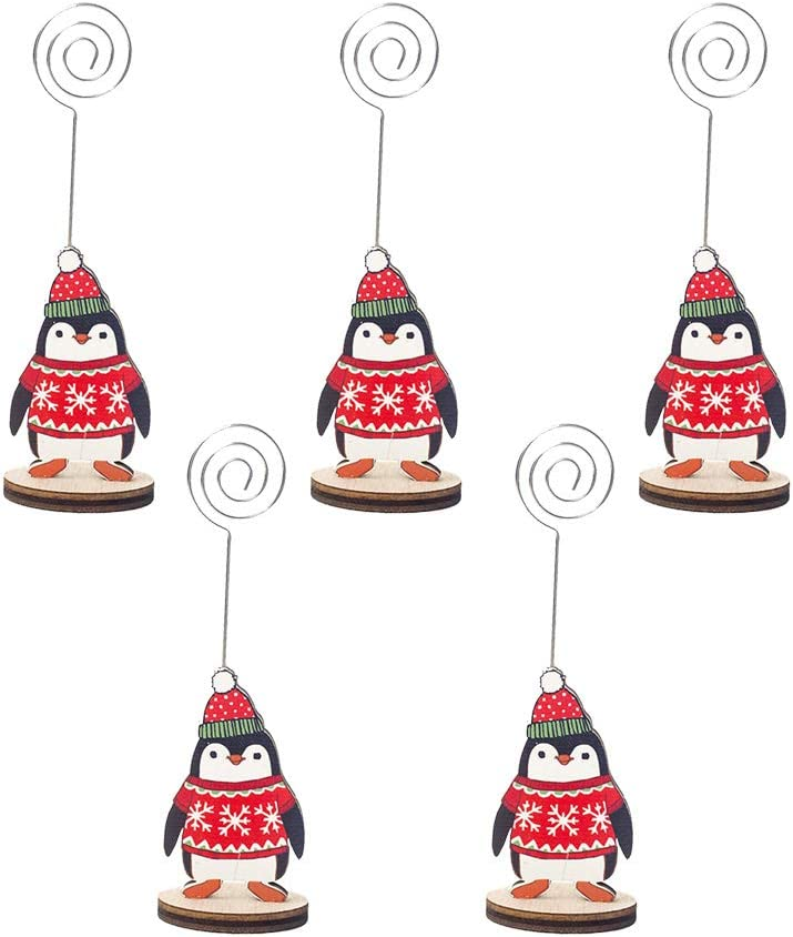 FUNZZY Christmas Photo Holder Creative Number Max 52% OFF Cartoon Great interest Card Stand