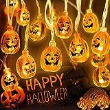 WOWDSGN luces de calabaza de Halloween de 3,5 m de largo 30 LED luces de cadena LED 3D a prueba de agua con 8 modos de iluminación, decoración de fiesta de Halloween