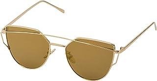 Sky Vision Cat Eye Sunglasses for Unisex, Brown Lens, F8427