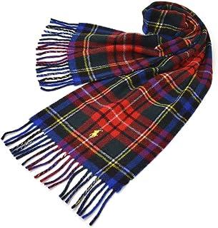 Ralph Lauren(ラルフローレン)マフラー メンズ/レディース タータンチェック柄ウールマフラー(サイズ約168cm×約25cm)erl19w105 PC0440 Reversible Scottish Tartans Royal Dr...