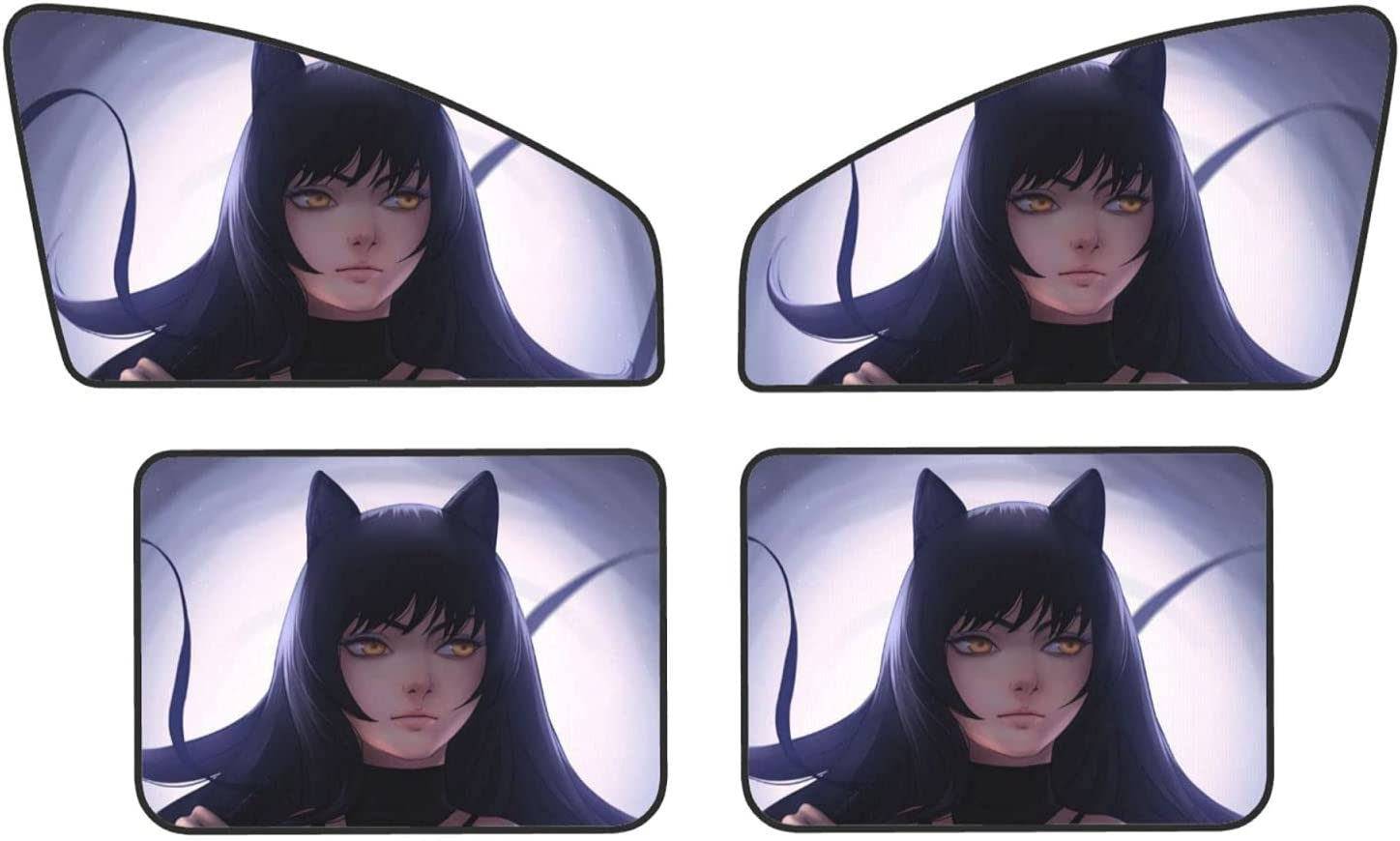 RWBY Car Sunshade Side Window Universal Shade High Directly managed store quality new Magne 4pcs Sun