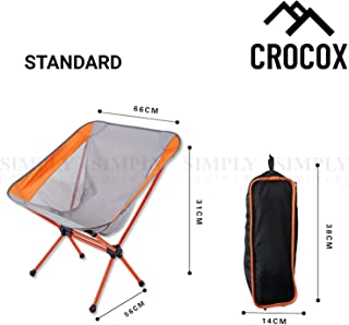 Crocox Folding Camping Chair Portable Lightweight Fishing Hiking Outdoor Seat