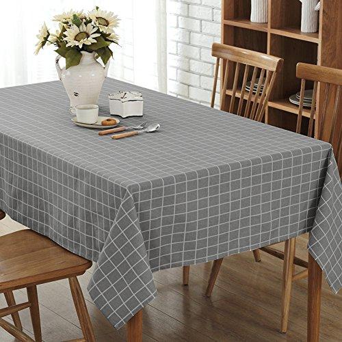 Plaid lattice in tela di cotone tovaglia tovaglia di schermo 90X90 cm dark grey
