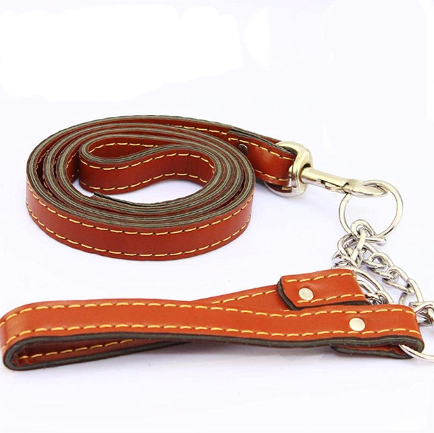 Hjyi Pet Traction Strap Strap Collar Large Dog Leather Suit