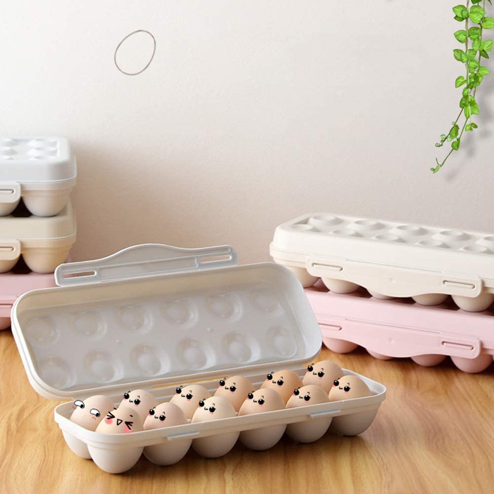 Spring new work one after Year-end annual account another KedAiKJ Kitchen Egg Holder Stackab Storage Refrigerator Bin