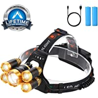 Alyattes 12000 Lumen 4 Modes USB Rechargeable Head Lamp