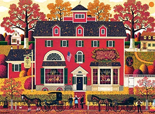 Buffalo Games Charles Wysocki Benjamin s Music Store 1000 Piece Jigsaw Puzzle product image