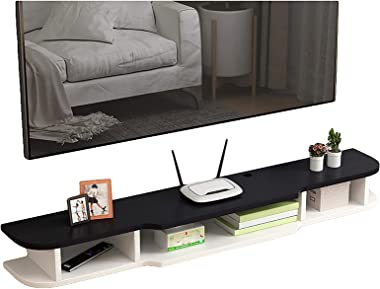 TV Cabinet, TV Lowboard, Floating Shelves, Modern Floating TV Stand Shelf, Wall Mounted Media Console, 120/140/160cm, Hanging