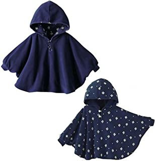 Gaorui Baby Kids Toddler Double-Side Wear Hooded Cape Cloak Poncho Hoodie Coat Outwear Romper