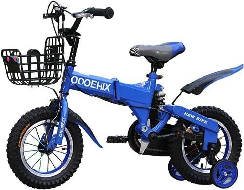QXMEI fürrad Kinder Sto mpfung 12 14 16 18 Zoll Junge Faltrad 3-5-6-8 Jahre Alten Jungen fürrad,A(18Inches)