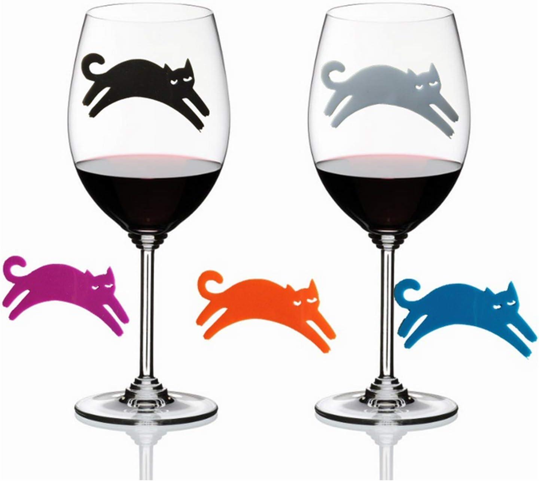 Hochzeit Martinis Champagner Verkostungsveranstaltungen Cocktails FILWO 12 St/ück Weinglas-Erkenner Kreative Weinglas-Charms Weinglas-Markierungen Silikonbecher-Flaschenetikett f/ür Party