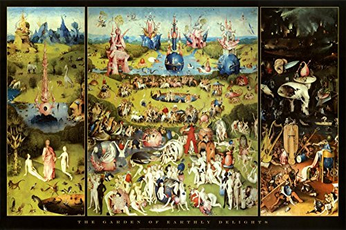 (24x36) Hieronymus Bosch Garden of Earthly Delights Art Print Poster Art Poster Print by Hieronymus Bosch, 36x24