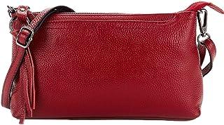 HOMYL Women Cowhide Leather Crossbody Handbag Messenger Shoulder Bags Clutch Purse
