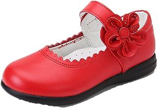Generic11 Filles Mary Jane Appartements Confortables Respirant Fleur Princesse Chaussures en Cuir Enfants Semelle Souple C...