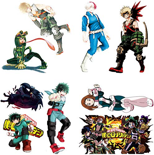 My Hero Academia Stickers Wall Sticker Decor Peel, My Hero Academia Stick Poster Decals Vinyl Wallpaper for Kids Rooms Decorations (20'x20')