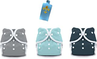 Thirsties Duo Wrap Snaps Diaper Covers 3 pack Combo: Fin (Gray), Aqua, Midnight Blue Sz 2