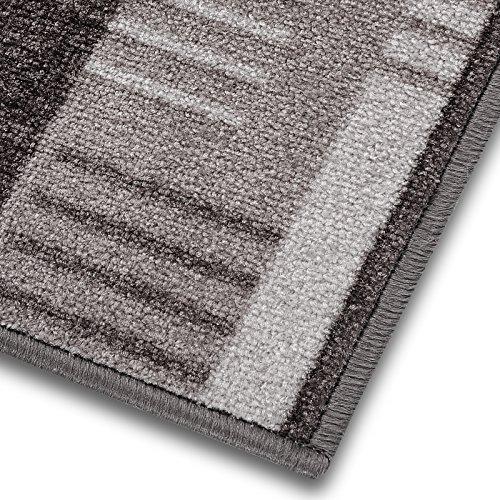 Meisterei 1A Teppich-Läufer auf Maß gekettelt | Murano (67x150, grau)