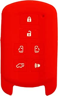 qualitykeylessplus Silicone Rubber Protective Cover for 2011-2019 Toyota Sienna 6 Button Toyota Remotes with FCC ID HYQ14ADR Part Number 89904-08010 Includes Free Key Tag Return Service (Red)