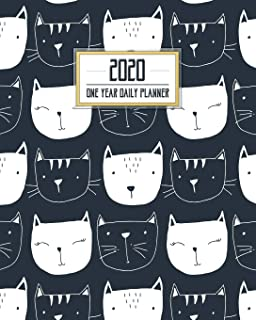 2020 One Year Daily Planner: Black Cat Collection Daily Weekly Monthly View Calendar Organizer Nifty Kitty One 1-Year Motivational Agenda Schedule ... More! (8x10 12 Month Simple Pretty Planner)