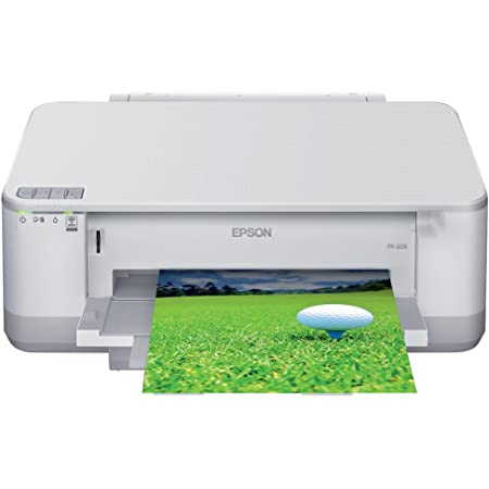 EPSON Colorio インクジェットプリンター PX-203 有線・無線LAN標準搭載 前面給紙カセット 自動両面印刷標準 4色顔料インク