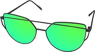 e861fe9955 LooKLooK Gafas de Sol de Moda Estilo Ojos de Gato para Mujer - Diseño  Fashion y Elegante con Montura Metálica y Lentes Planas Antirreflejos de  Espejo no ...
