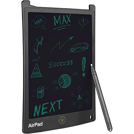 Gizga Essentials Portable AirPad Re-Writeable 21.59 cm (8.5-inch) LCD Writing Tablet Memo Pad Drawing Board Slate Notes Digital Notepad with Stylus Pen Handwriting for Kids at Home School Office.