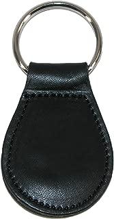 Smooth Leather Tear Drop Key Fob