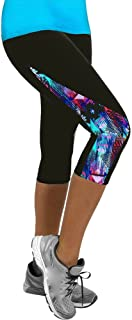Qootent Women Sport Yoga Fitness Leggings Gym 3/4 Pant Slim Fit Cropped Trouser