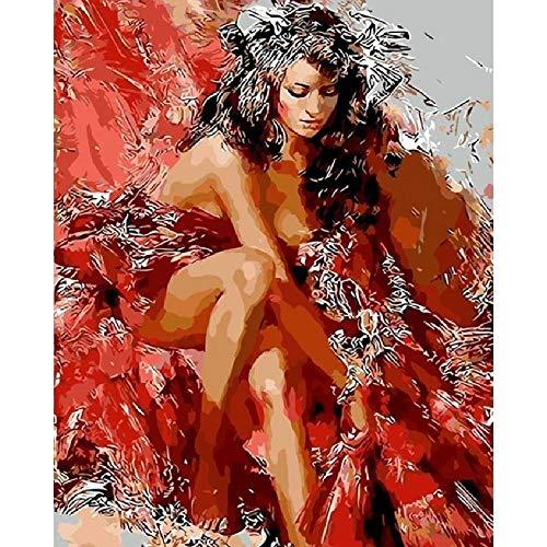 Rompecabezas Para Adultos 1000 Piezas Sexy Vestido Rojo Mujer Muy Desafiante Adultos Y Adolescentes Casual Jigsaw Puzzle, Alta Calidad Rompecabezas De Gran Tamaño