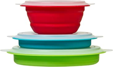 Prepworks by Progressive Collapsible Prep and Storage Bowls with Lids - Set of 3 Collapsible Bowls, Meal Prep Food Storage...