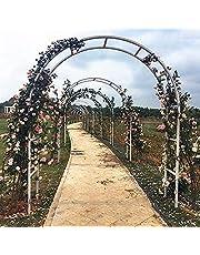 WXking 7,2ft 7,5ft wit metalen tuinboog stalen frame tuinarbon boog voor klimplanten, wijnstokken, rozen, licht en bloemen, ideaal voor tuin gazon backyard patio binnenplaats, bruiloft, sterke durab