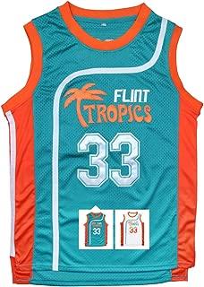 Moon #33 Flint Tropics Basketball Jersey,Stitched Letters Numbers S-XXXL