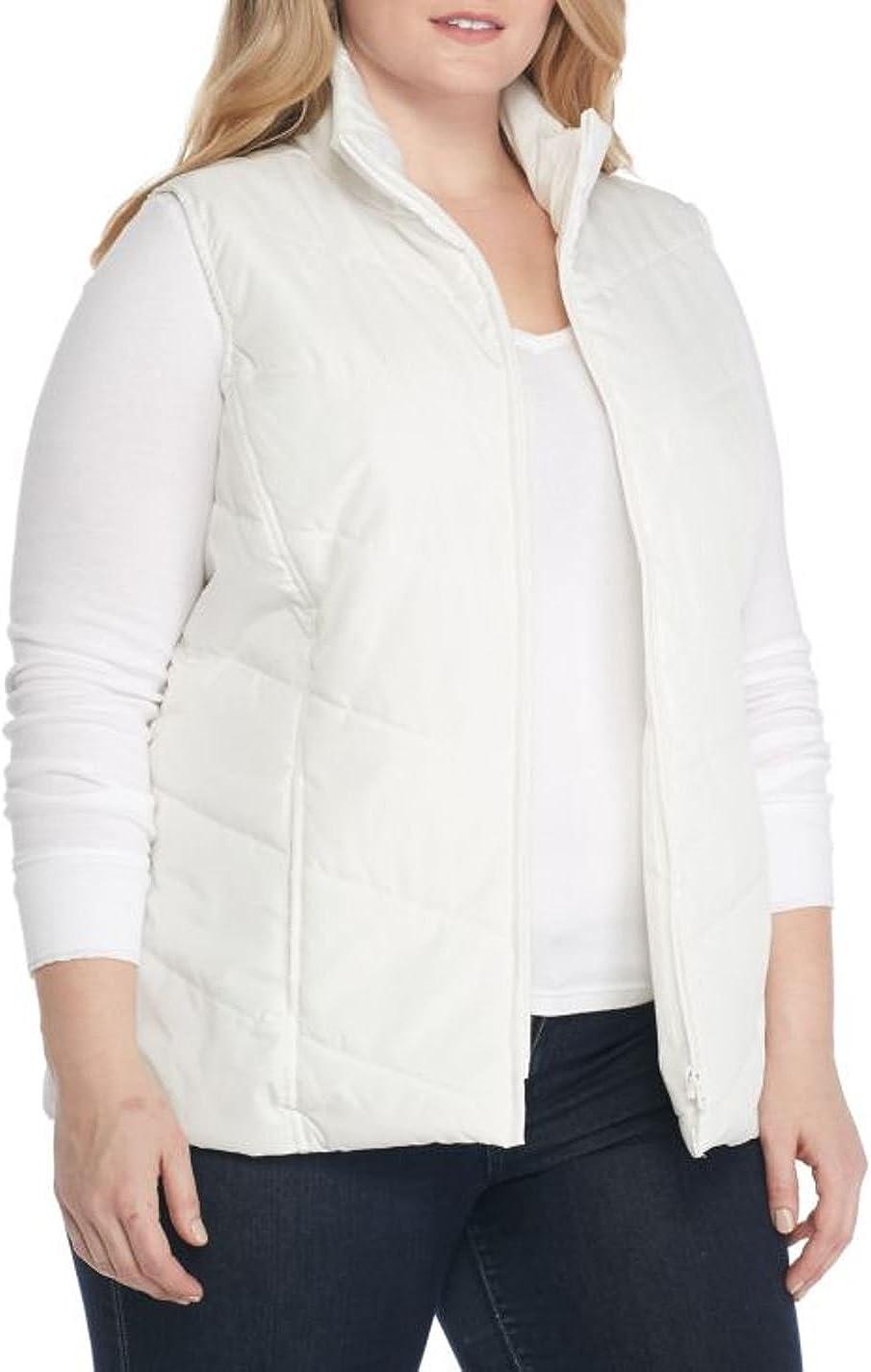 Kim Rogers Women's Plus Size Chevron Quilted Vest
