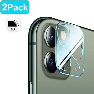Tamoria [2 Pack] 3D Oneness Screen Protector Camera Lens for iPhone 11 Pro/iPhone 11 Pro Max HD Clear Tempered Glass 9H Anti-Scratch Anti-Fingerprints No Bubbles Smooth Touch Camera Protector